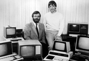 Основатели Майкрософт Пол Аллен (слева) и Билл Гейтс